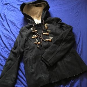 Pins and Needles Hooded Duffle Coat - XS